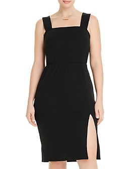 AQUA Curve - Ribbed Sleeveless Bodycon Dress - 100% Exclusive
