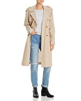 Vero Moda - Striped Trench Coat