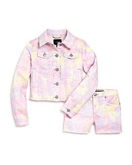 Joe's Jeans - Girls' Chloe Tie-Dyed Mid-Rise Shorts & Jacket, Little Kid - 100% Exclusive