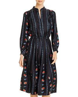 Tory Burch - Printed Long-Sleeve Dress