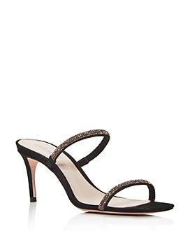 SCHUTZ - Women's Taleen Crystal Mid-Heel Sandals