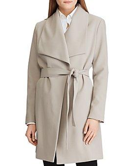 Ralph Lauren - Belted Drape-Front Coat