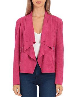 Bagatelle - Faux-Suede Drape-Front Jacket