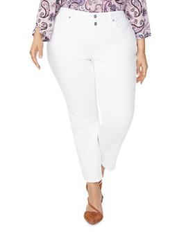 NYDJ Plus - Sheri Slim Ankle Jeans in Black