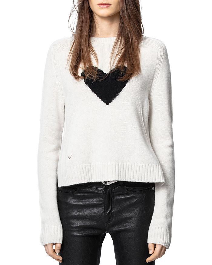 Zadig & Voltaire - Heart-Knit Cashmere Pullover Sweater