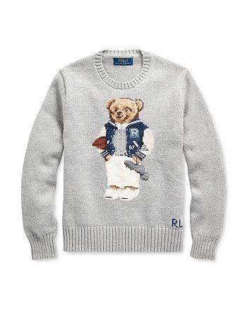 Ralph Lauren - Boys' Football Bear Cotton Sweater - Big Kid
