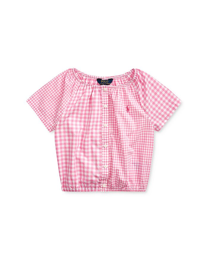 Ralph Lauren - Girls' Mixed-Gingham Top - Little Kid