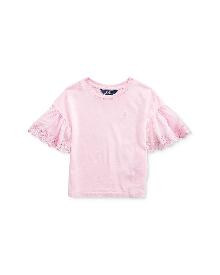 Ralph Lauren - Girls' Lace-Trim Top - Little Kid