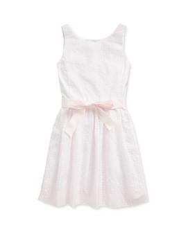 Ralph Lauren - Girls' Windowpane Dress - Little Kid