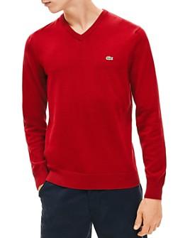 Lacoste - Cotton V-Neck Sweater