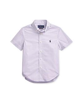 Ralph Lauren - Boys' Cotton Gingham Poplin Shirt - Little Kid