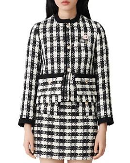 Maje - Checked Tweed Jacket