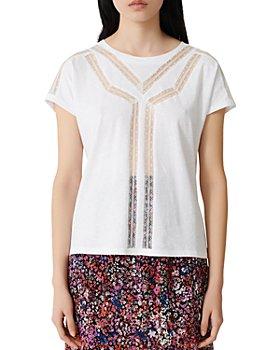 Maje - Lace-Insert T-Shirt