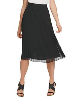 DKNY - Pull-On Pleated Skirt