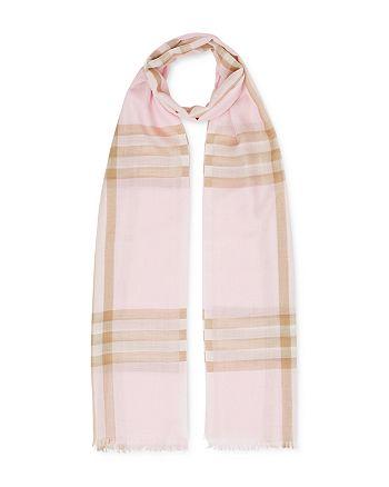 Burberry - Women's Lightweight Check Wool & Silk Scarf
