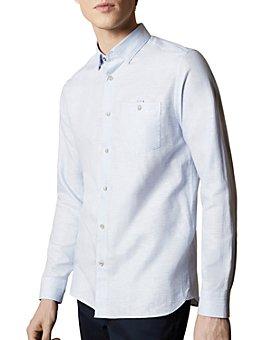 Ted Baker - Tiptoe Linen-Blend Slim Fit Button-Down Shirt