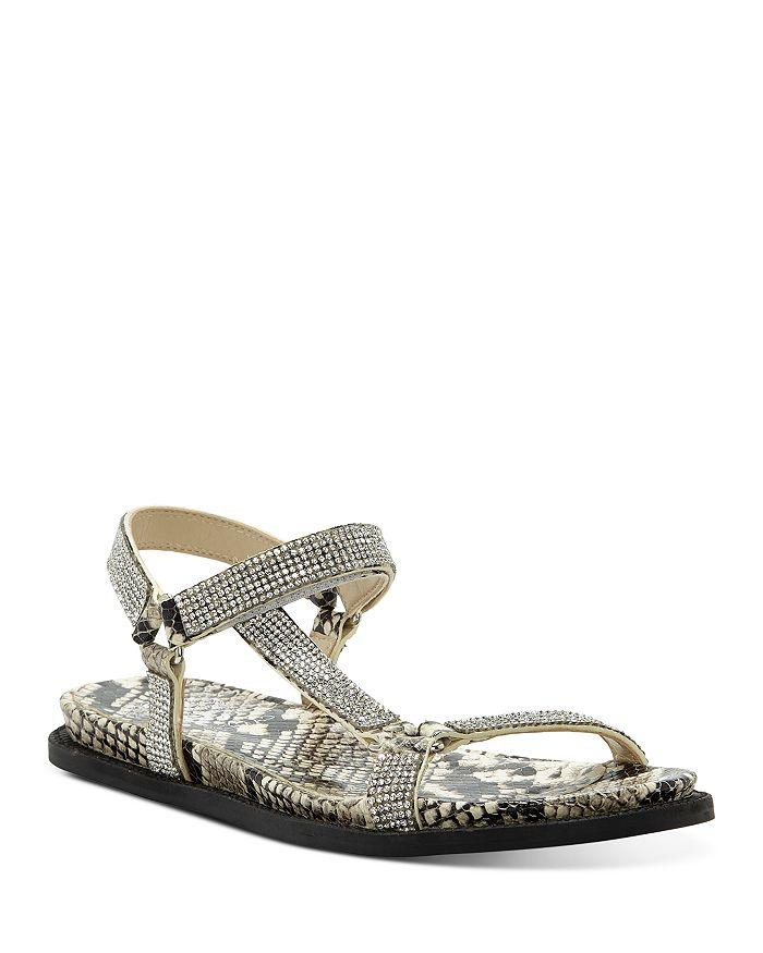 VINCE CAMUTO - Women's Arabelem Crystal-Embellished Flat Sandals