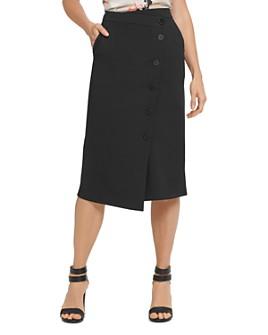 DKNY - Button-Detail Skirt