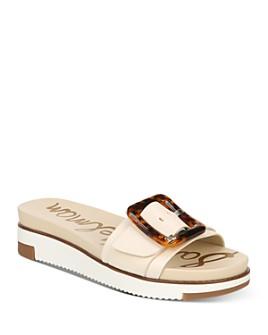 Sam Edelman - Women's Ariane Slip On Buckled Wedge Sandals