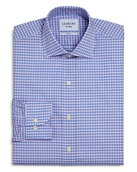 Ledbury - Prestwick Cotton Gingham Check Slim Fit Dress Shirt