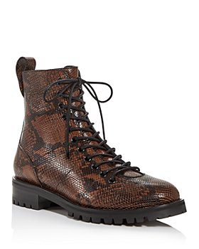 Jimmy Choo - x Kaia Women's Cruz Snake-Embossed Combat Boots