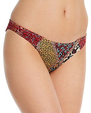 The Upside Poppy Clash Moss Printed Bikini Bottom
