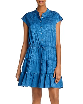 Rebecca Minkoff - Ollie Printed Tie-Waist Mini Dress