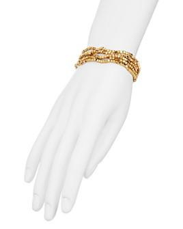 AQUA - Beaded Stretch Bracelets, Set of 5 - 100% Exclusive