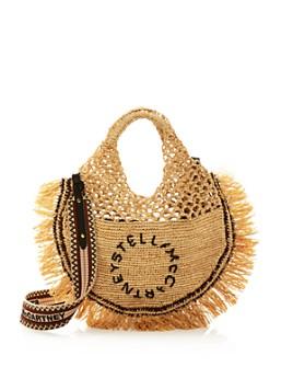 Stella McCartney - Raffia Circle Logo Tote