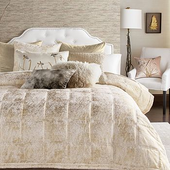Michael Aram - Quilted Metallic Textured Coverlet, King