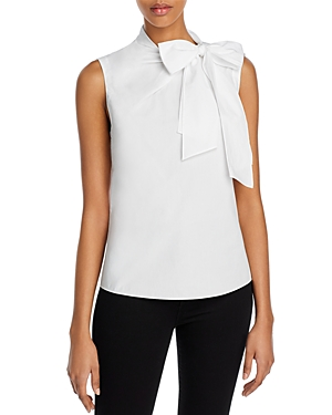 La Chemise Rebecca Taylor Poplin Neck-Tied Top-Women