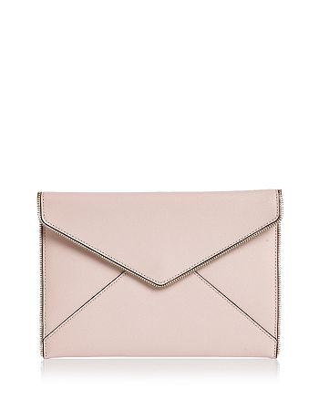 Rebecca Minkoff - Leo Saffiano Leather Clutch