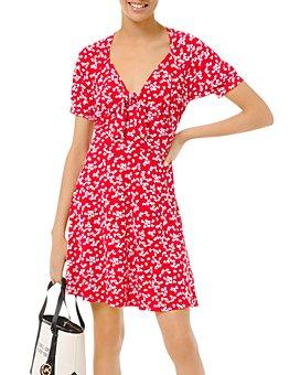 MICHAEL Michael Kors - Printed Tie-Front Dress