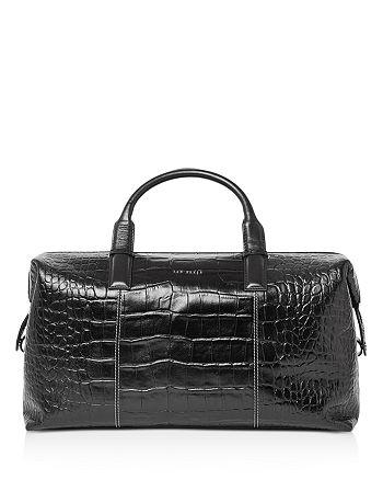Ted Baker - Donk Croc-Embossed Leather Holdall Bag