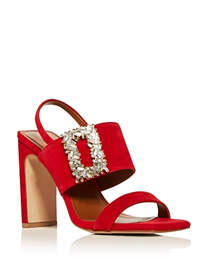 Kurt Geiger WOMEN'S PASCAL EMBELLISHED HIGH BLOCK-HEEL SANDALS