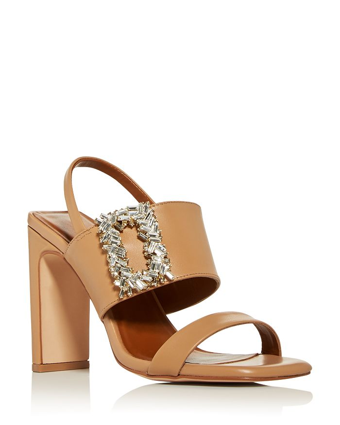 Kurt Geiger KURT GEIGER WOMEN'S PASCAL EMBELLISHED HIGH BLOCK-HEEL SANDALS
