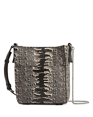 Allsaints Adelina Mini Embossed Leather Tote