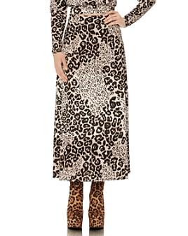 AFRM - Animal-Print Midi Skirt