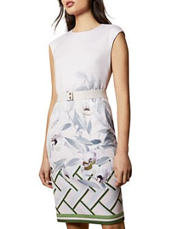 Ted Baker - Haliey Everglade Floral-Print Bodycon Dress