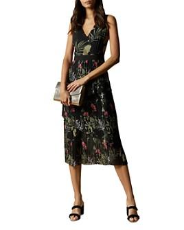 Ted Baker - Malinae Highland Tiered Pleated Midi Dress