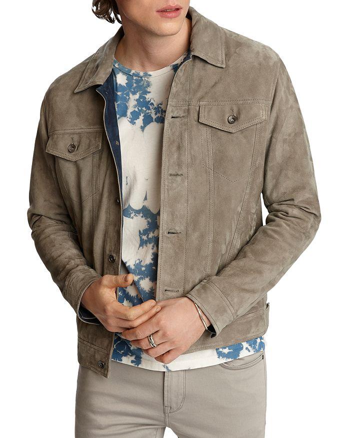 John Varvatos Star USA - Steven Suede Regular Fit Trucker Jacket
