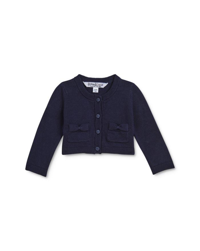 Pippa & Julie Girls' Bow-Pocket Cotton Cardigan - Little Kid    Bloomingdale's