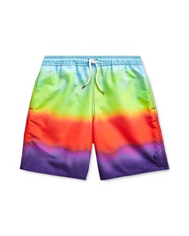 Ralph Lauren - Boys' Ombré Rainbow Swim Trunks - Big Kid