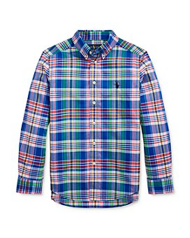 Ralph Lauren - Boys' Cotton Plaid Poplin Shirt - Big Kid