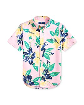 Ralph Lauren - Boys' Cotton Tropical Button-Down Shirt - Big Kid