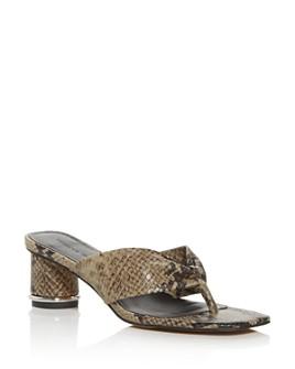 Rebecca Minkoff - Women's Abrianna Thong High-Heel Sandals