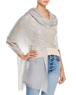 Fraas - Solid Sparkle Wool & Cashmere Wrap Scarf