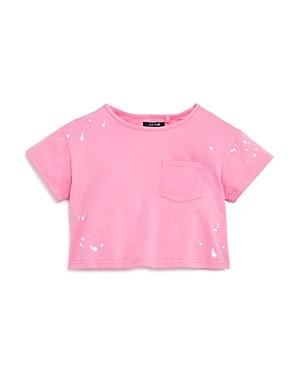 Joe's Jeans Girls' Bleach-Spotted Tee, Little Kid- 100% Exclusive