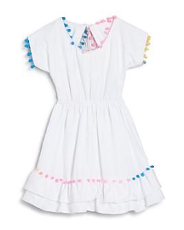 Peixoto - Girls' Nissi Pom Pom Scoop Dress, Big Kid  - 100% Exclusive