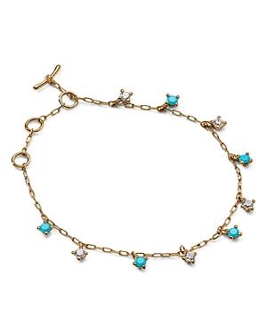 Nadri 18K Gold-Plated Cubic Zirconia & Stone Shaky Bracelet